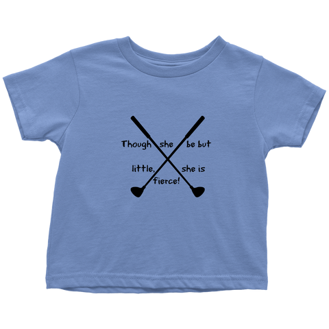 Toddler Girl Golf shirt She IS FIERCE