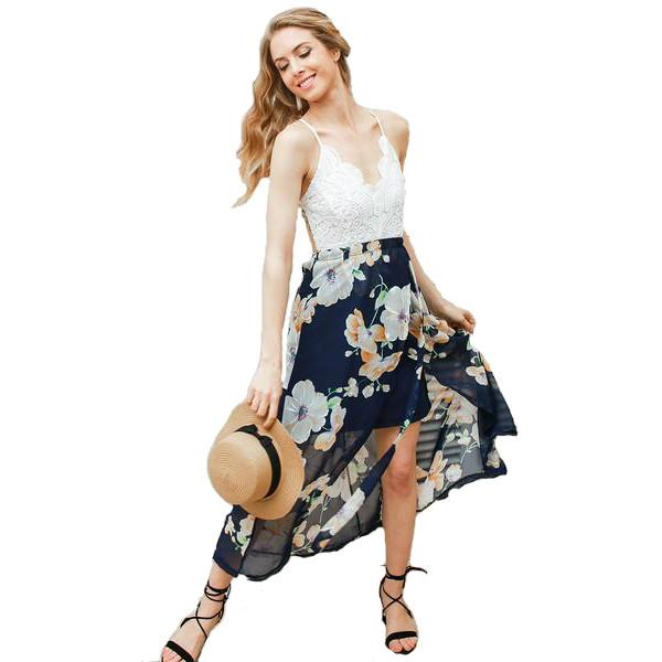 Beatrice Backless Floral Summer Dress