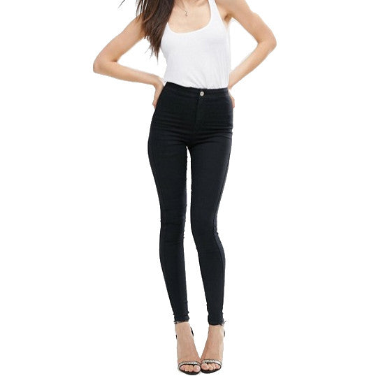 Petite High Waist Jeggings - Black