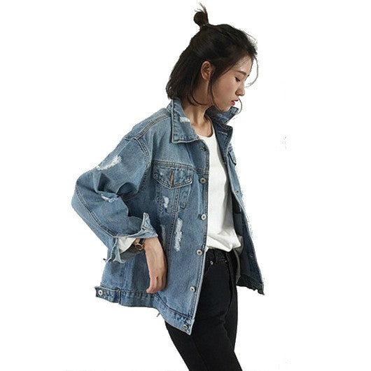Freelife Ripped Denim Jacket