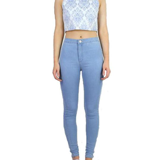 Petite High Waist Jeggings - Light Blue - InsideMyLuggage