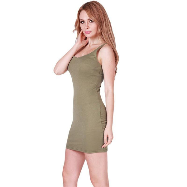 LPW Backless Mini Dress - Army Green
