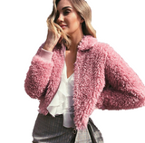Cropped Warm Fleece Jacket - InsideMyLuggage