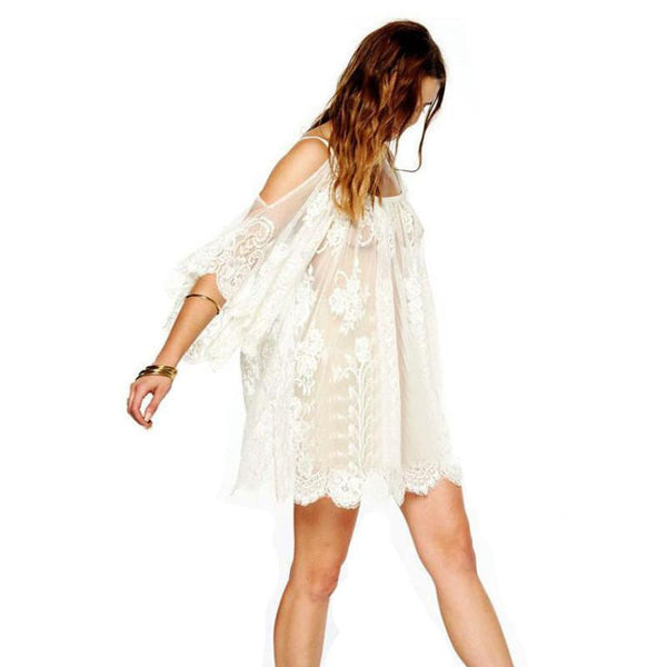 Hippie Boho Dress Clear - InsideMyLuggage