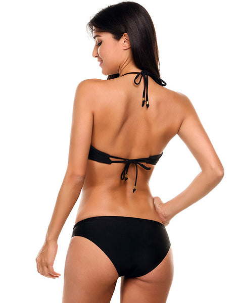 Lara Hollow Out Bikini - Black - InsideMyLuggage