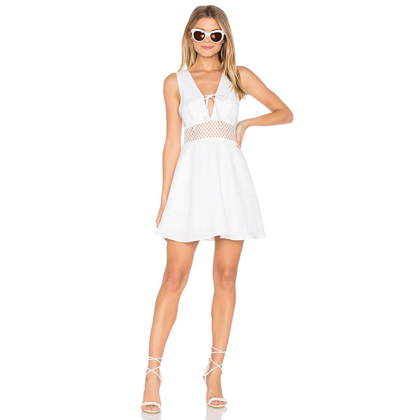 Ms. Sunshine Summer Skater Dress - White