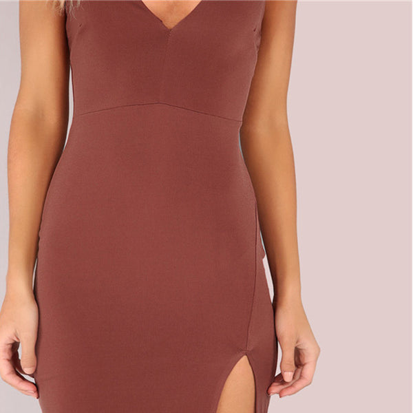 Lust Side Split Slim Summer Cami Dress - InsideMyLuggage