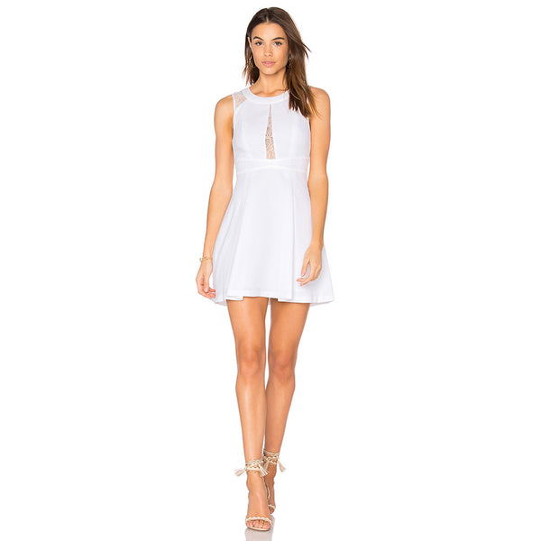 Truly You White Lace Skater Dress - InsideMyLuggage