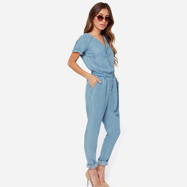 Clara Denim Jumpsuit - InsideMyLuggage