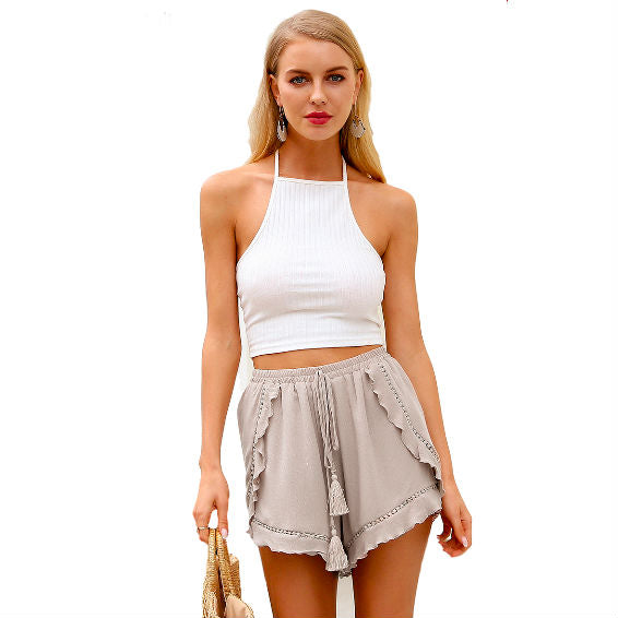 Ruffle mini shorts - InsideMyLuggage