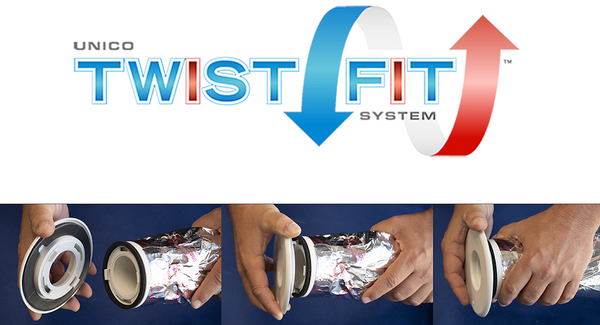 "Introducing The Unico Twist Fit System - Now Available for 2"" Flexible Supply Tubing"