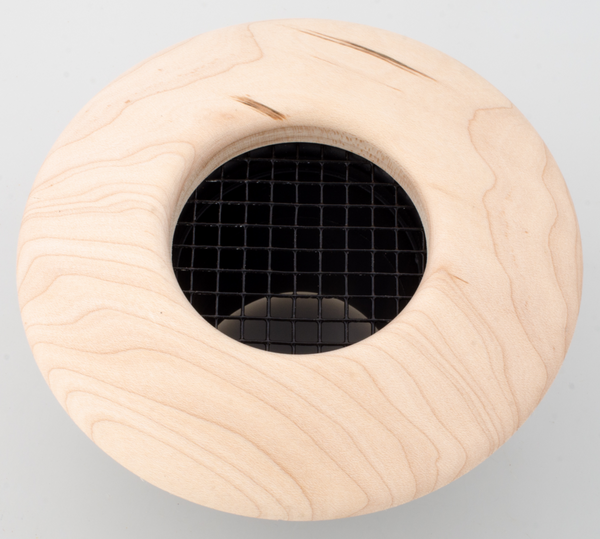 UPC-257-B - 2.5 inch Supply Air Outlet, Round, Wood, Birch - highvelocityoutlets-com