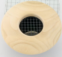 "UPC-57-PO - 2""  Poplar Wood Air Supply Outlet, Round, by The Unico System - highvelocityoutlets-com"