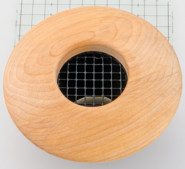 "UPC-57-B - 2"" Round Birch Wood Air Supply Vent Cover, by The Unico System - highvelocityoutlets-com"