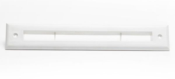 A00297-002 - Slotted Trim Plate for UPC-67 and 68, White, Plastic, by The Unico System