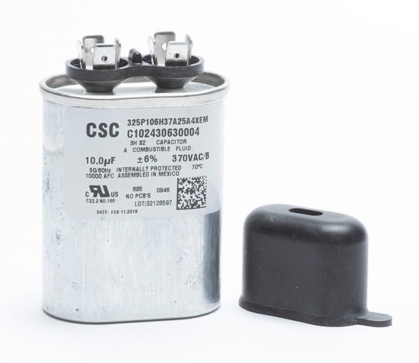 A00351-003 Unico Capacitor, Oval, 10 mfd (for motors A001018-G03, G05, G07, G09, G14)