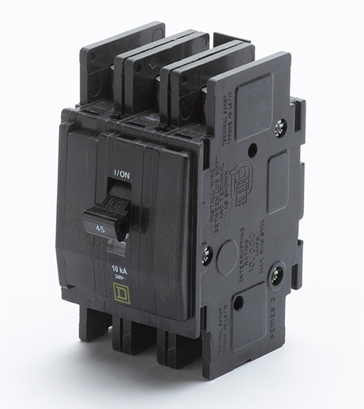 A01051-345 - Breaker, 3-pole, 45 amp (WON**04 series)