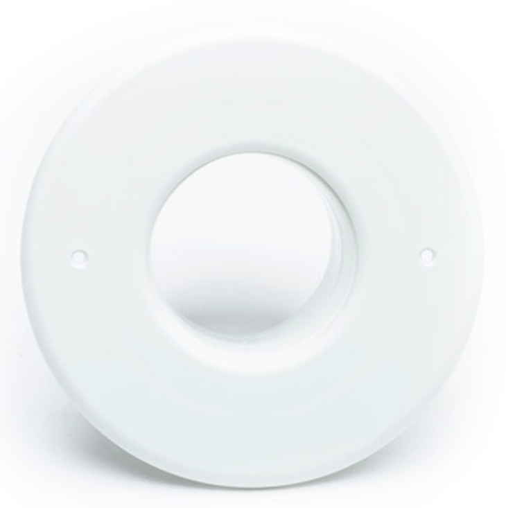"A01300-001 - Outlet, Round, Flanged, 2.5"", White (No mounting hardware)"