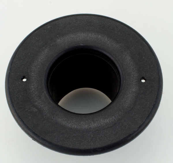 "UPC-256B-BLK - 2.5"" Black Supply Outlet, Round, Plastic - highvelocityoutlets-com"