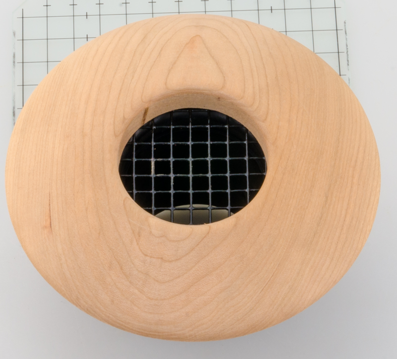 "UPC-57-C - 2"" Cherry Wood Round High Velocity Air Vent Cover, Round - highvelocityoutlets-com"