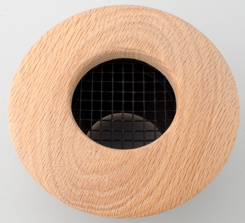 UPC-257-RO - 2.5 inch Red Oak Wood Supply Outlet, Round, The Unico System HVAC - highvelocityoutlets-com