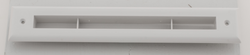 A00297-002 - Slotted Trim Plate for UPC-67 and 68, White, Plastic, by The Unico System - highvelocityoutlets-com