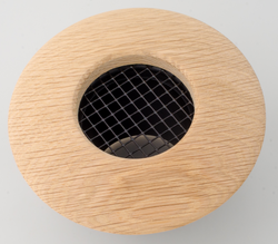 UPC-257-WO - 2.5 inch Supply Outlet, Round, Wood, White Oak - highvelocityoutlets-com