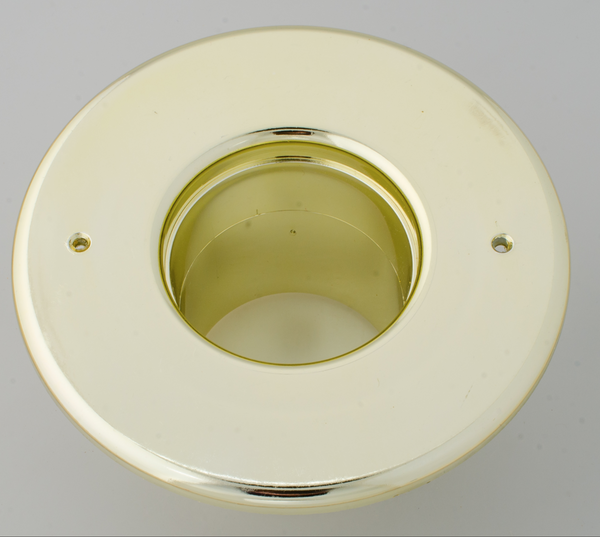 "UPC-256B-BRS - 2.5"" Supply Outlet, Round, Plastic, Brass Finish - highvelocityoutlets-com"