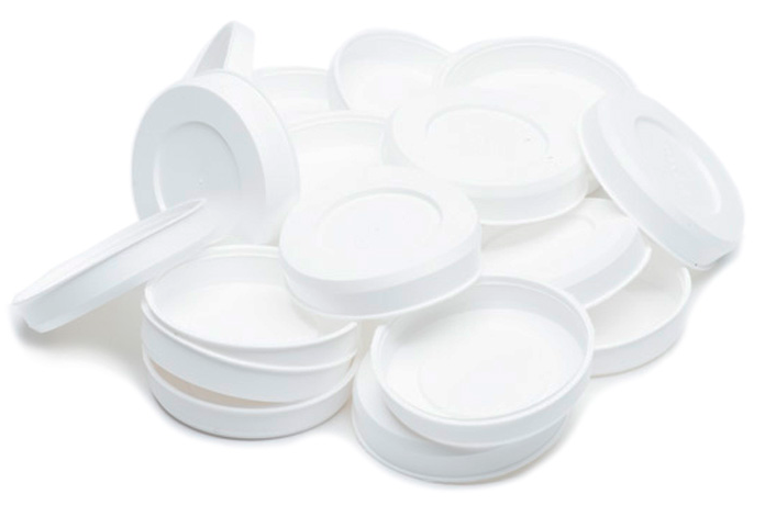 "UPC-242-20 - 2.5"" Summer/Winter Shut-off Plugs for The Unico System High Velocity Small Duct HVAC, White, Plastic, 20/box"