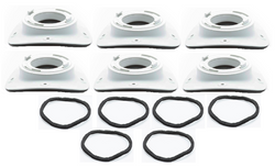 UPC-28T-6 - TFS, Take-off, for round metal plenum Includes gasket (6 pcs)