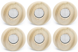 "UPC-57T-PO-6 - 2"" Outlet, TFS, Wood, Poplar, Face Plate Only (6 pcs)"