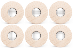 "UPC-57T-PO-F-6 - 2"" Wood Outlet, TFS, Flush Mount, Poplar, Face Plate Only (6 pcs)"