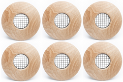 "UPC-57T-WO-F-6 - 2"" Wood Outlet, TFS, Flush Mount, White Oak, Face Plate Only (6 pcs)"