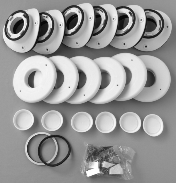 "UPC-89TM-6 - Unico Install Kit, 2"", Round Metal Plenum, TFS, (6pk)"