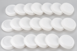 "UPC-242-20 - 2.5"" Summer/Winter Shut-off Plugs for The Unico System High Velocity Small Duct HVAC, White, Plastic, 20/box - highvelocityoutlets-com"