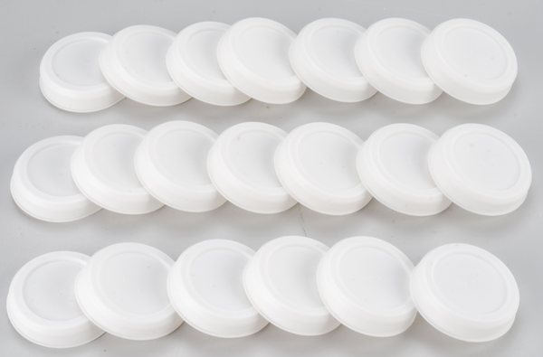 "UPC-42-20 - 2"" Summer/Winter Shut-off Plugs, for The Unico System High Velocity, White Plastic, 20/box - highvelocityoutlets-com"