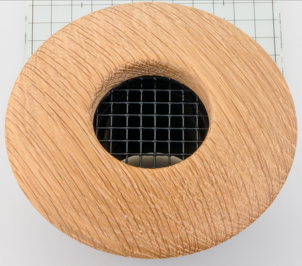 "UPC-57-WO - 2"" White Oak Wood Supply Outlet, Round, for The Unico System - highvelocityoutlets-com"