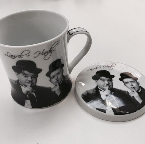 Mug and Coaster Laurel & Hardy