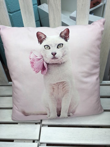 Cat Pink Cushion