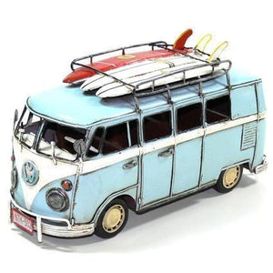 Car Combi Blue With 3 surfboards