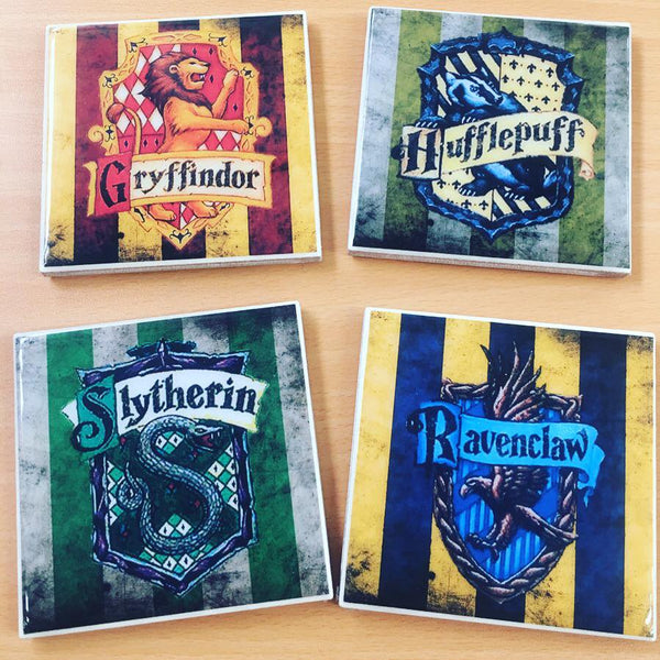 Handmade Tile Coasters Harry Potter