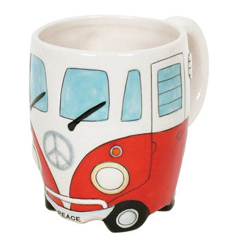 DAKOTA PEACE CAMPERVAN MUG RED