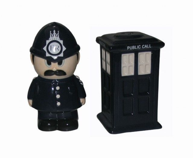 Police Salt n Pepper shakers