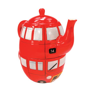 Red Bus Teapot and Cup for 1