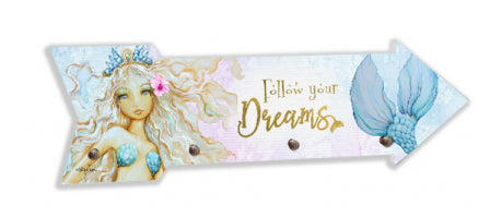 Mermaid dream key hook