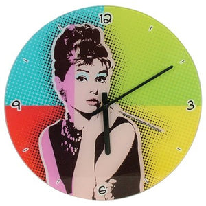 Pop Art Clock - Audrey Hepburn