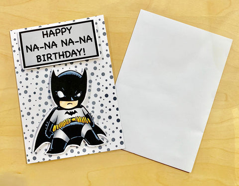 Batman Na Na Birthday Card