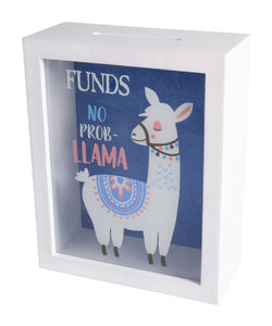 Llama Shadow Box Money Bank