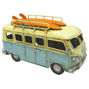 Combi Metal Decor With Surfboards - Baby Blue