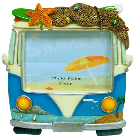 Copy of Hippie Van Photo Frame - Blue - Small standing